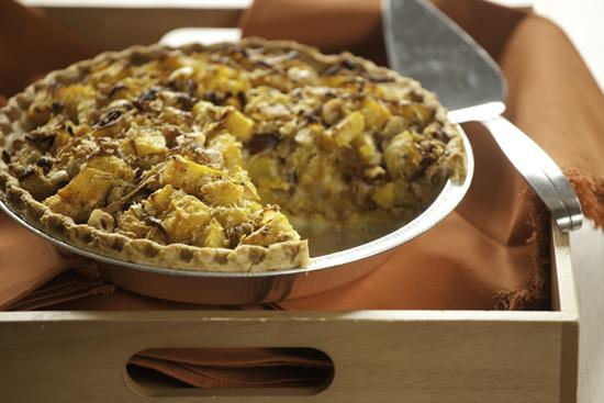 Butternut Squash Pie With Hazelnuts