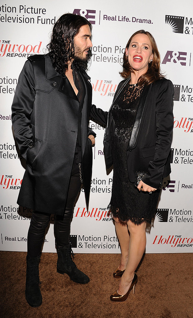 """Russell Brand and his Arthur costar Jennifer Garner at the Motion Picture & Television Fund's """"Reel Stories, Real Lives"""" in Hollywood."""