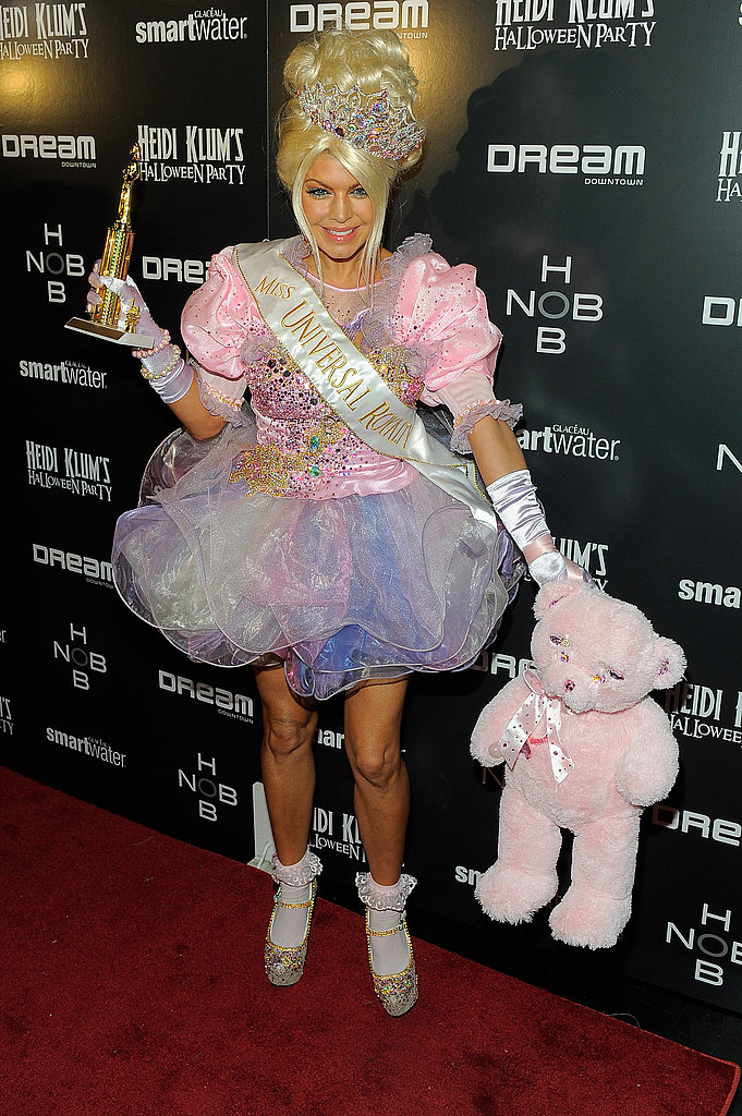 Fergie went to a 2011 Halloween party in NYC as a toddler in tiara.