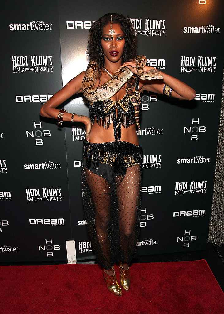 Jessica White outfitted an exotic look in 2011, complete with a snake.
