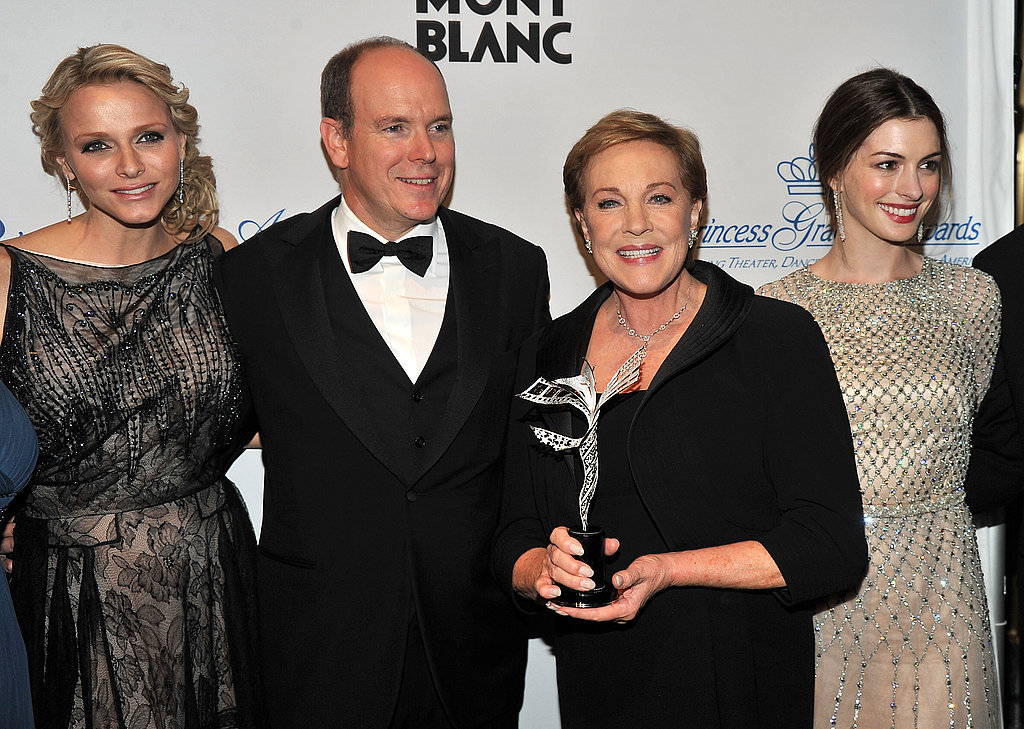 Princess Charlene, Prince Albert, Julie Andrews and Anne Hathaway