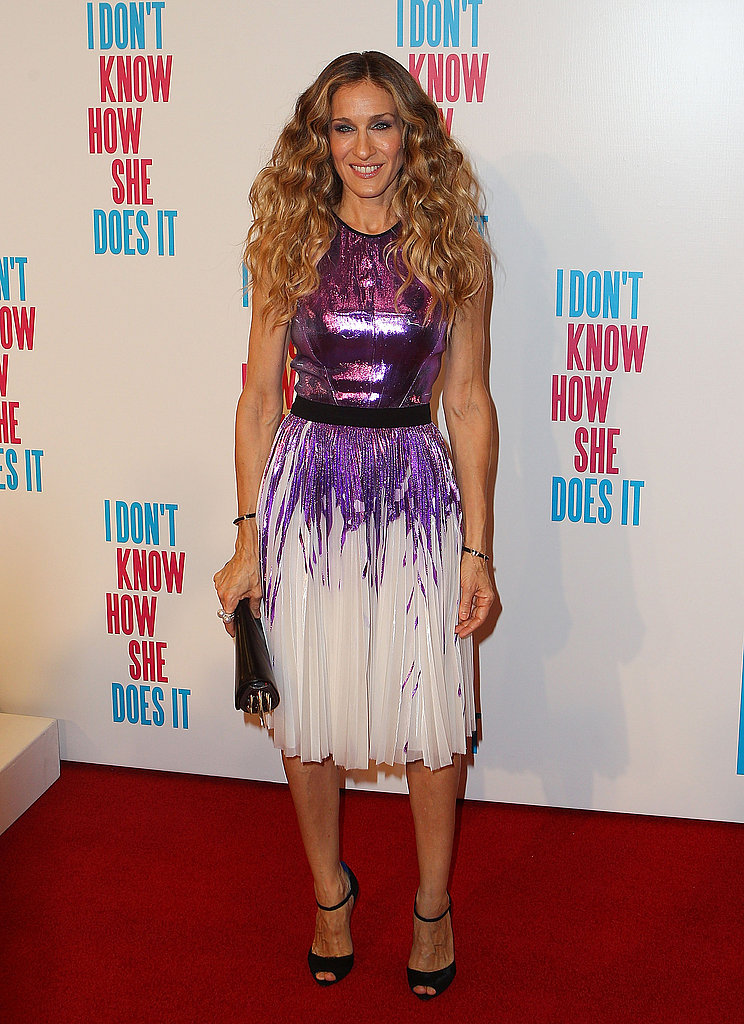 Sarah Jessica Parker walked the red carpet for I Don't Know How She Does It.