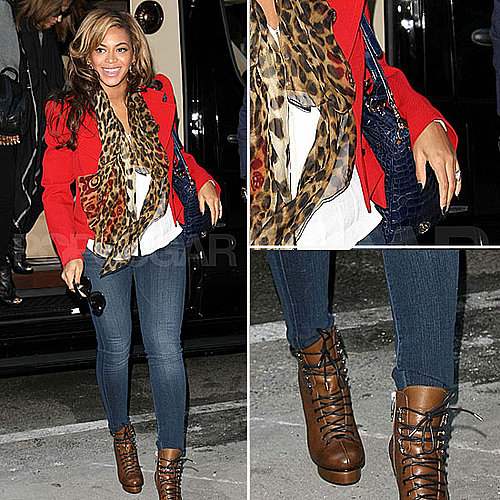 Celeb Style: Beyoncé Rocks Leopard and Red