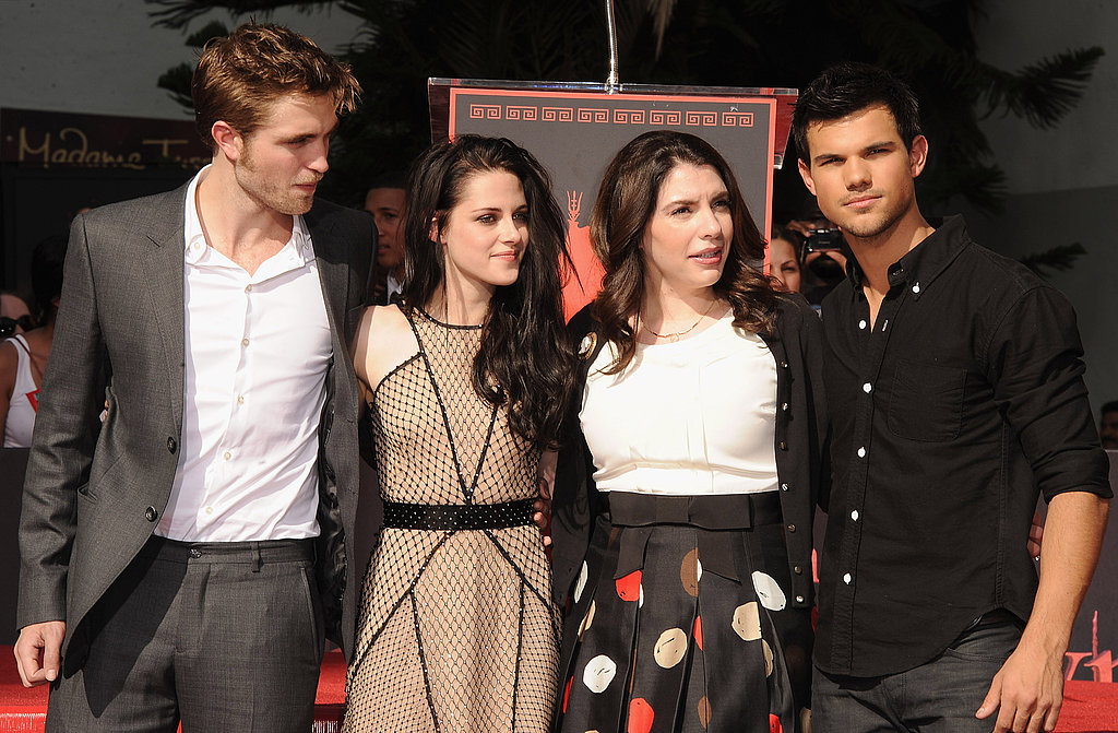 Kristen Stewart, Robert Pattinson, and Taylor Lautner were congratulated by Stephanie Meyer.