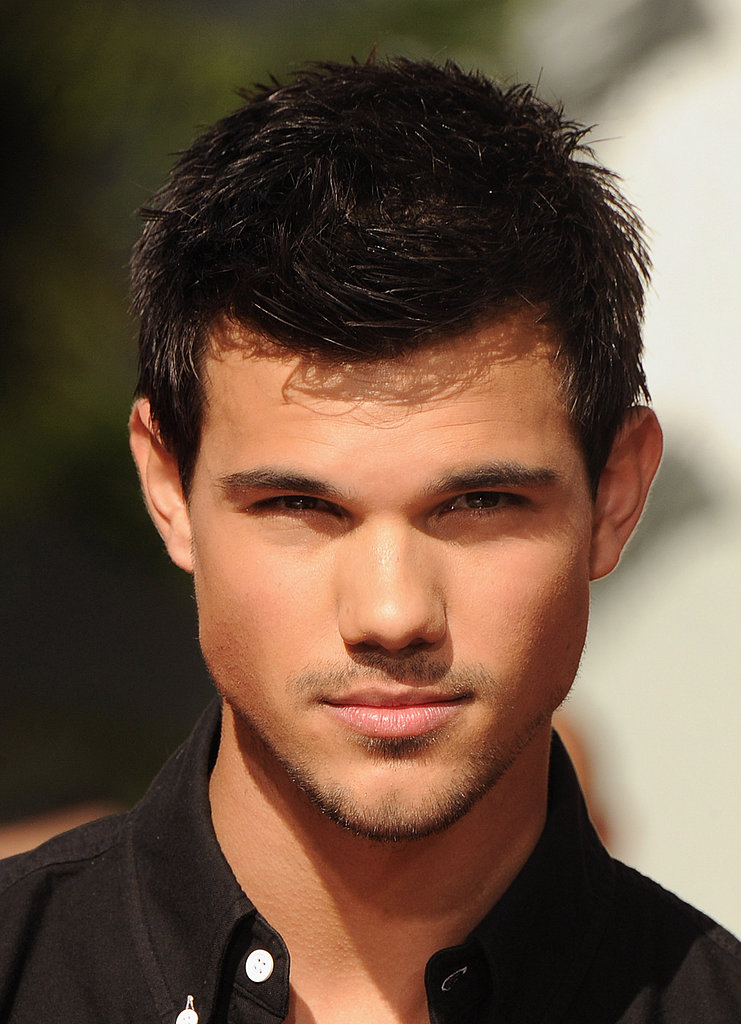 Taylor Lautner waited to make his mark on the Walk of Fame.