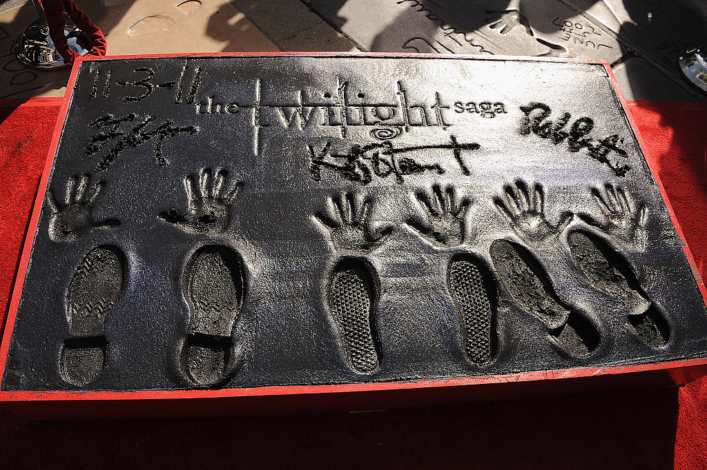The new Twilight plaque at Grauman's Chinese Theater.