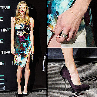 Amanda Seyfried in Lanvin Shoes at In Time Premiere in Spain