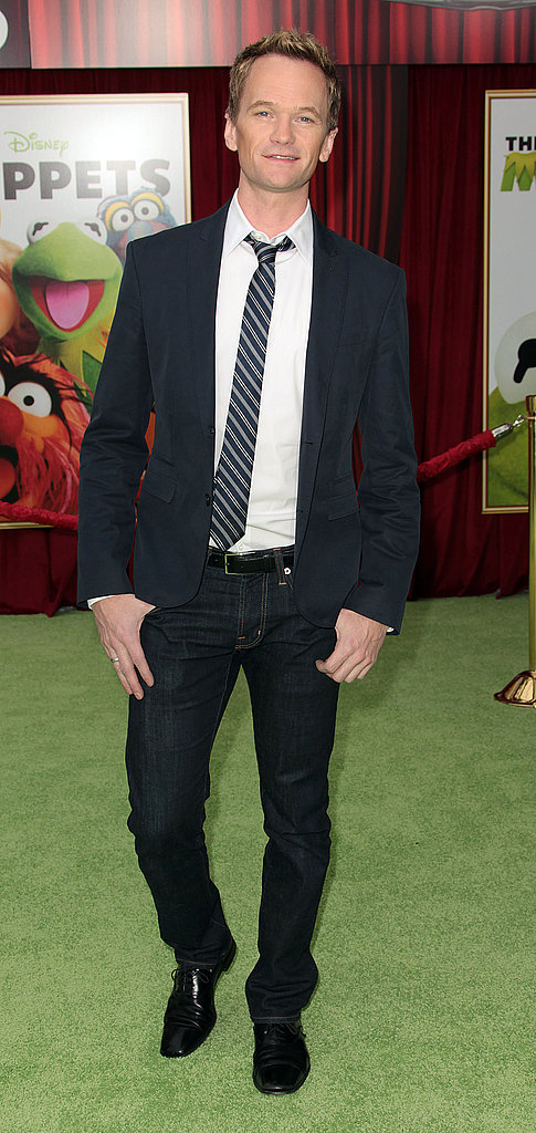 Neil Patrick Harris suited up for the screening.