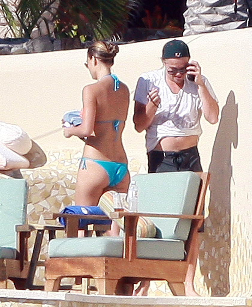 Leo and Bar Refaeli hit the beach during a vacation in Mexico in January 2009.