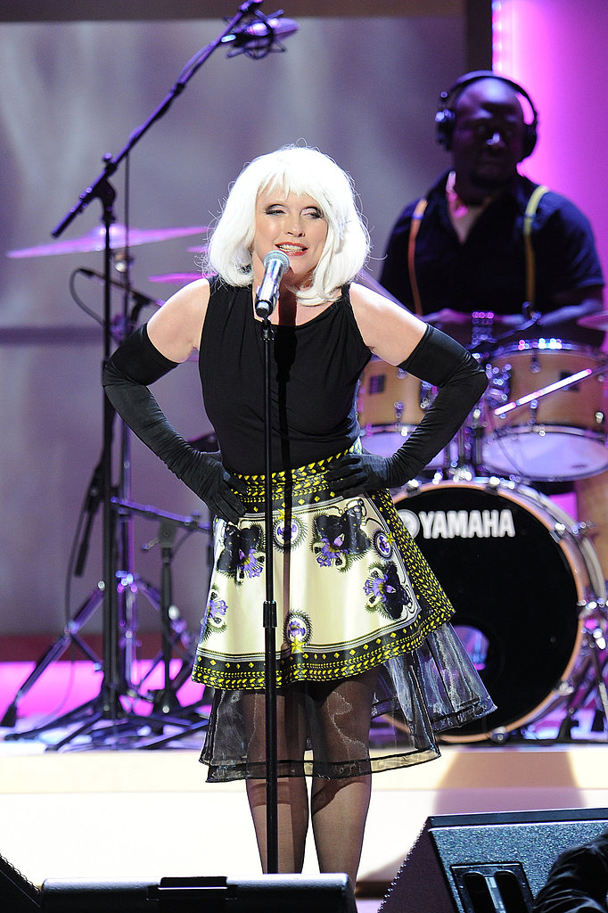 Debbie Harry crooned for the audience at an awards show in NYC.