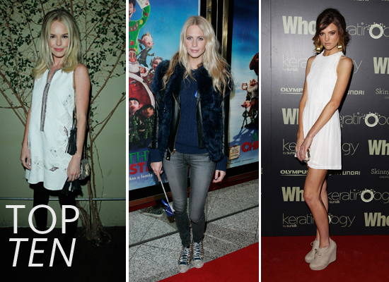 Top Ten Best Dressed Celebrities of the Week including Adriana Lima, Rachel Bilson, Kate Bosworth, Montana Cox & more!