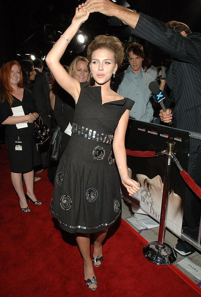 Scarlett showed off her little black dress at the premiere of The Black Dahlia in 2006.