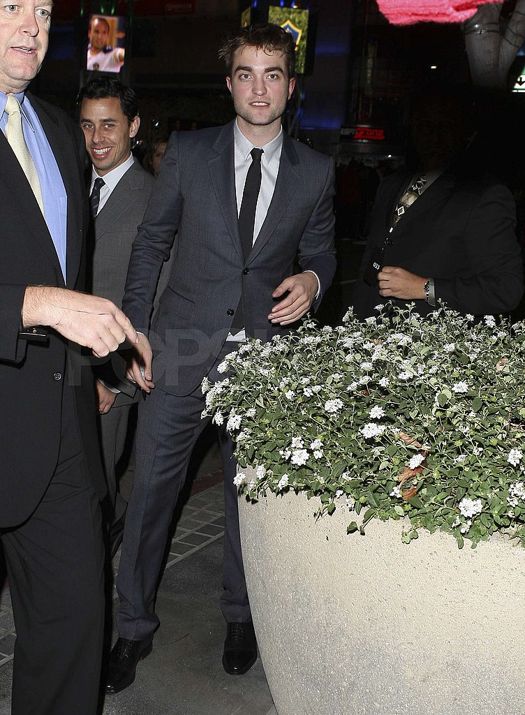 Robert Pattinson looked dapper in downtown LA.