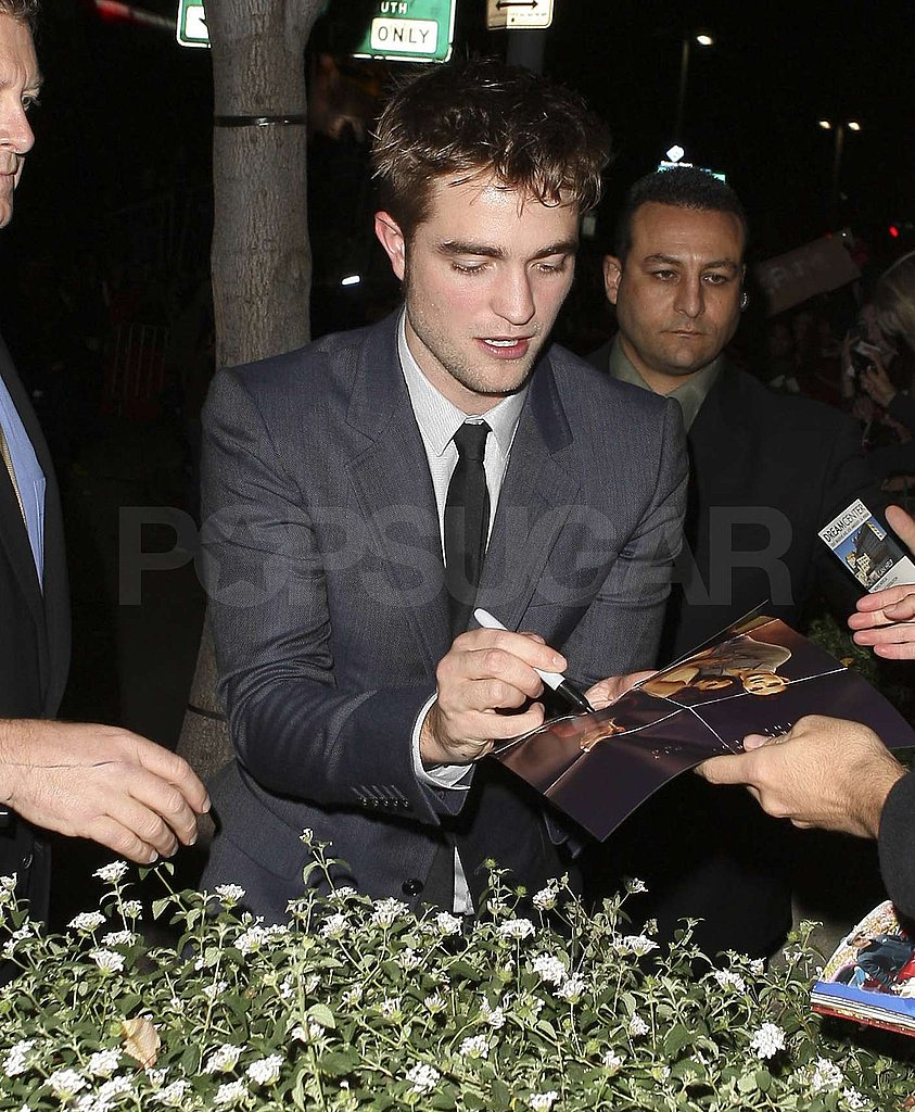 Robert Pattinson signed memorabilia.