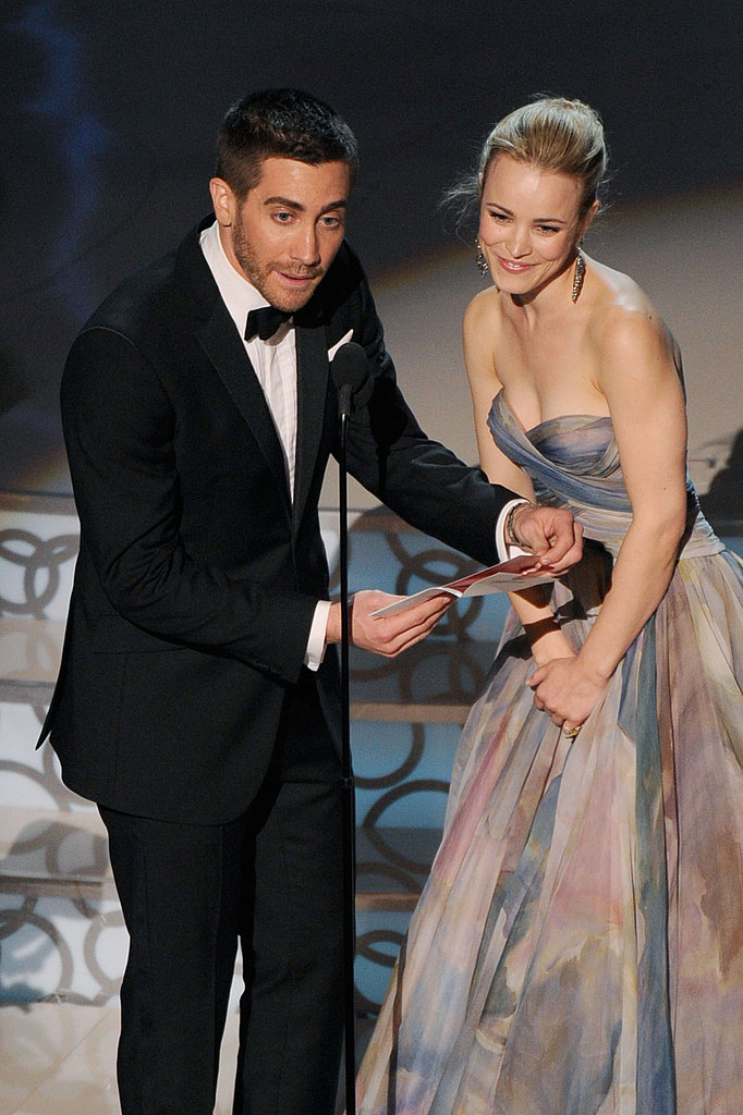 Rachel seemed happy to present on stage with Jake Gyllenhaal at the 2010 Oscars.