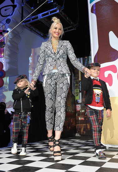 Gwen Stefani's boys Zuma and Kingston Rossdale joined her at the launch of her Harajuku Mini's for Target collection in LA on Nov. 12.