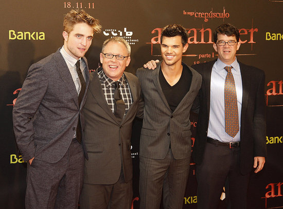 Robert Pattinson and Taylor Lautner Pictures at Breaking Dawn Part 1 Barcelona, Spain Premiere
