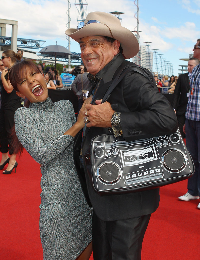 Molly Meldrum with friend