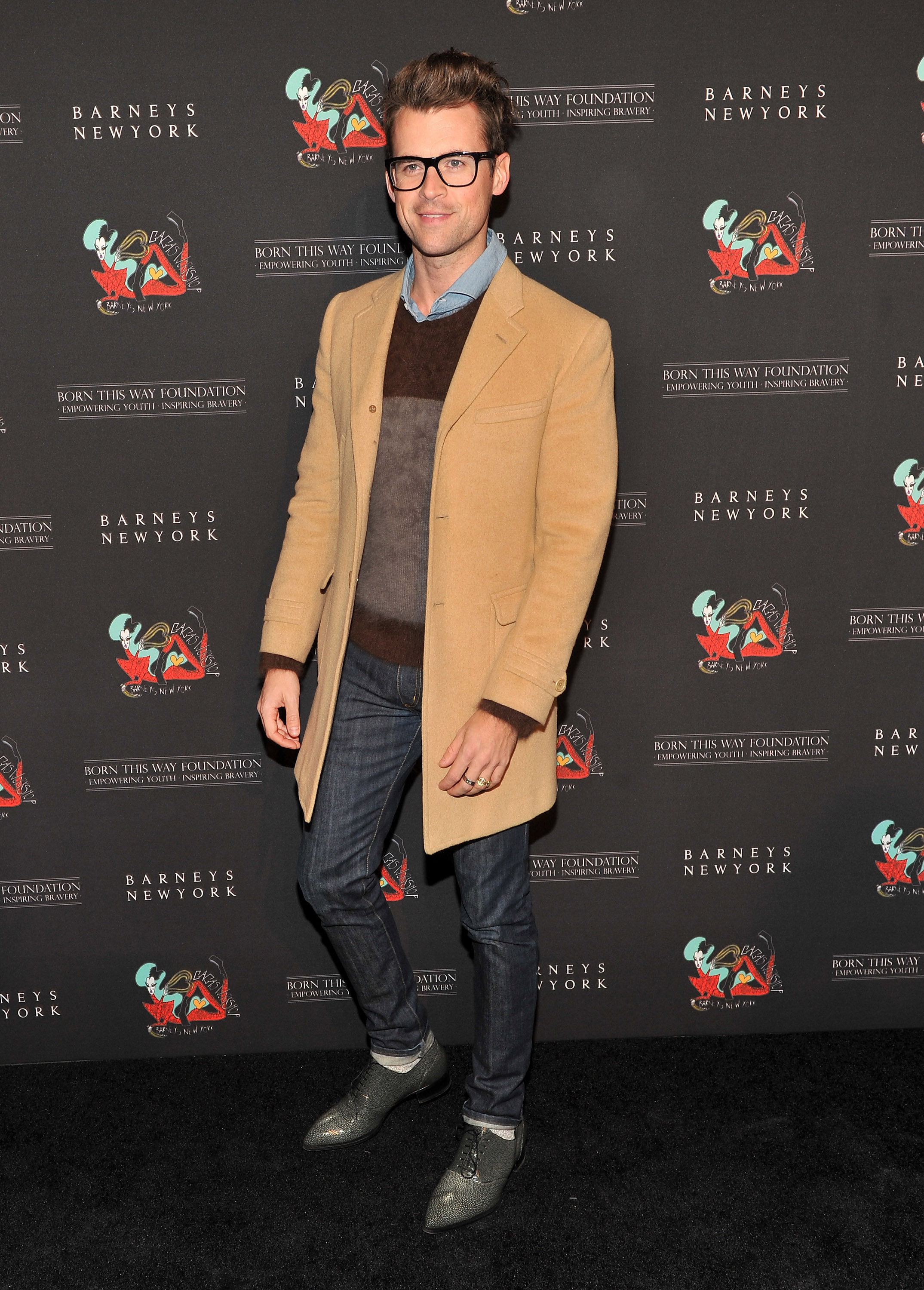 Brad Goreski stayed warm in layers in NYC.