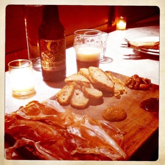 meat platter & beer @ Fat Angel