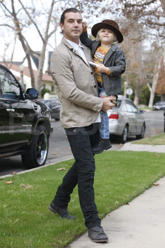 Gavin Rossdale and Zuma Rossdale were ready for Thanksgiving.
