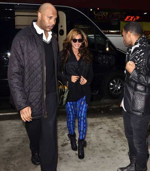 Pregnant Beyoncé Knowles out in NYC.