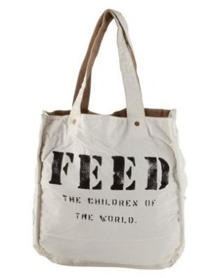 This Feed bag makes a perfect go-anywhere tote and provides one child in Africa school lunch for an entire year through a donation to the United Nations World Food Program.  Feed 1 Bag ($70)
