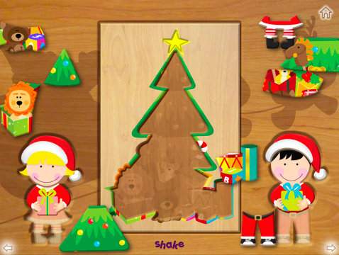 Wood Puzzle Christmas HD ($2)