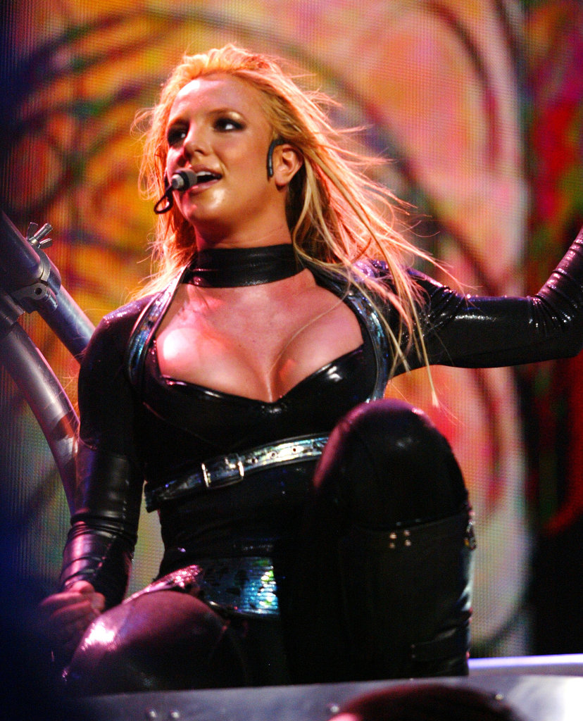 Britney wore a supersexy costume during her Onyx Hotel Tour in 2004.