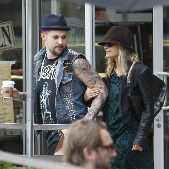 Nicole Richie and Joel Madden were happy on a coffee run together in LA.