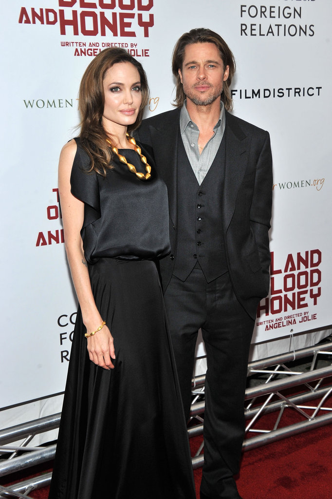 Angelina Jolie brought along friends and family to the NYC premiere of her directing project.