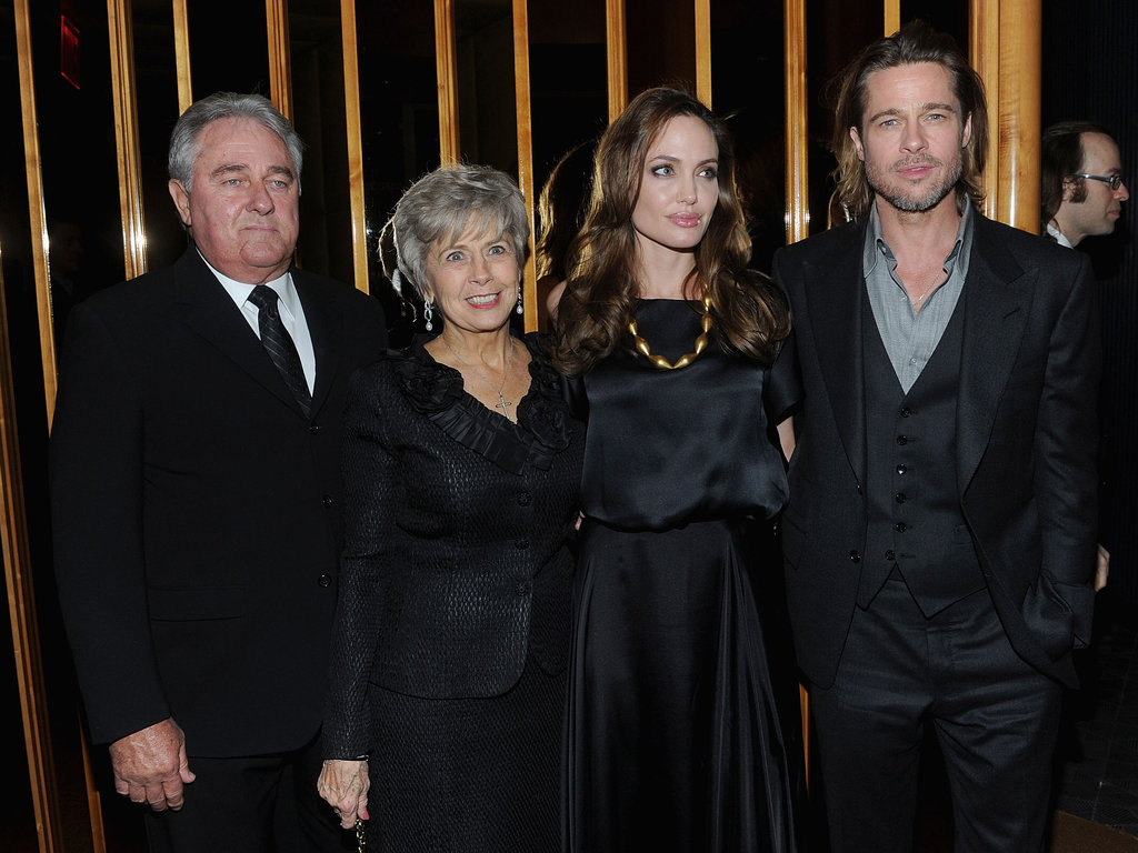 Angelina Jolie, Jane Pitt, Bill Pitt, and Brad Pitt at the In the Land of Blood and Honey afterparty.