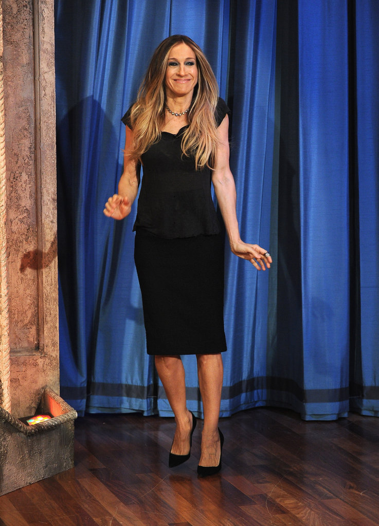 Sarah Jessica Parker made an adorable entrance on Late Night With Jimmy Fallon.