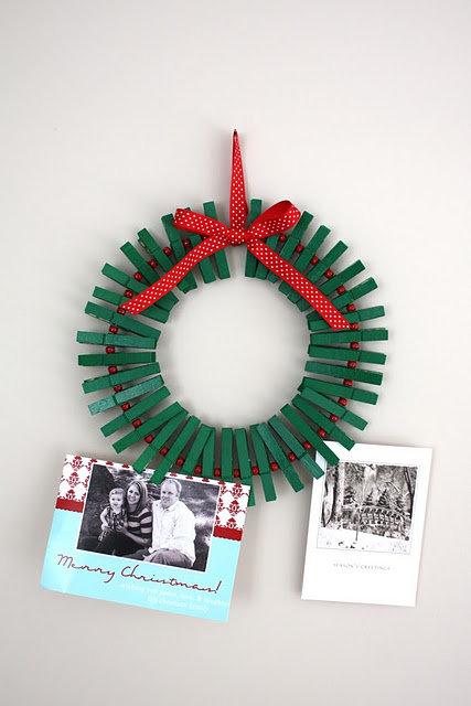 Holiday Card Wreath