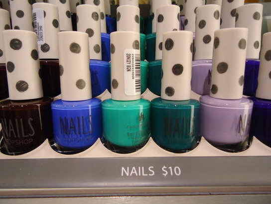 Topshop Nail polishes! So far we're loving the creamy mustard colour, pastel peach and the bold, bright peppermint. Best part? They're only $10 each.