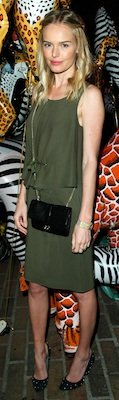 Kate Bosworth in Olive Green Mulberry Dress