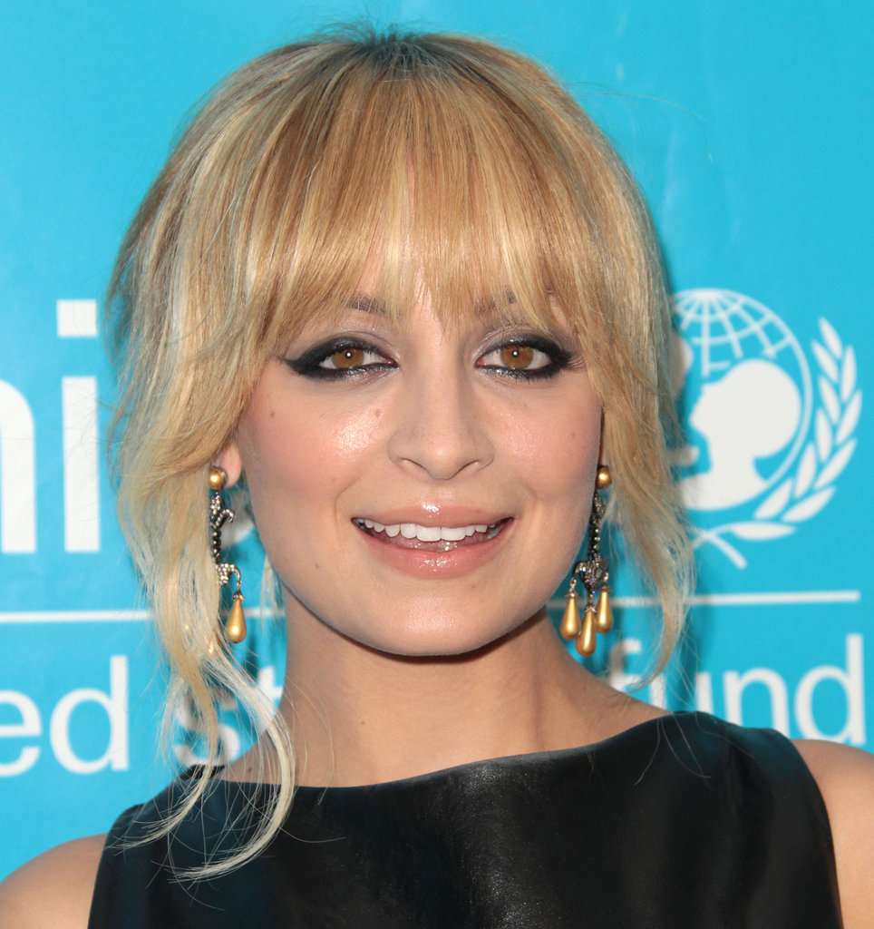Nicole Richie showed off her cat-eye eyeliner on the red carpet.