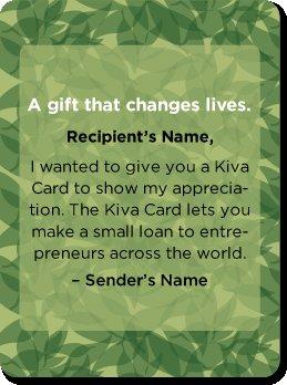 Kiva Gift Card