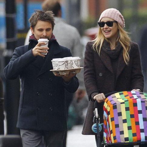 Kate Hudson & Matthew Bellamy Strolling in London With Bing