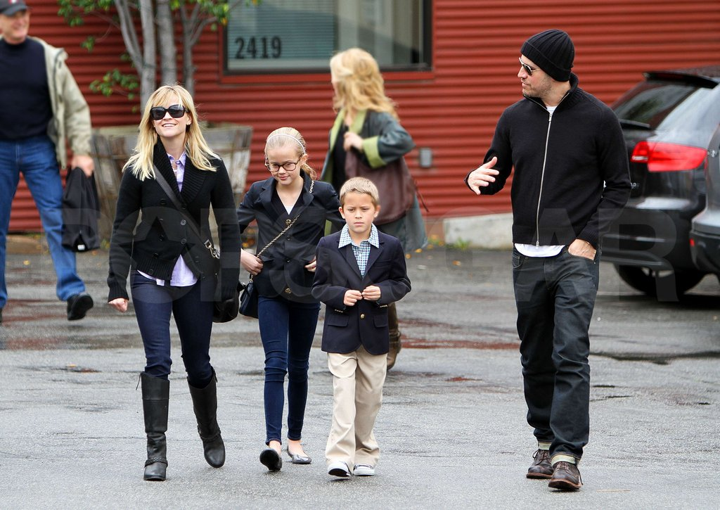 Reese Witherspoon, Jim Toth, Ava, and Deacon