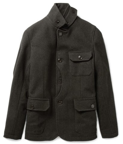 """My dad has been on the hunt for a military-esque jacket, and I think this wool-blend coat from Woolrich gives a subtle nod to the military look with the oversized pockets, without hitting the trend too on the nose. I can see him wearing it with everything from casual jeans to khakis and a collared shirt."" — Allison McNamara, FabSugarTV host and producer  Woolrich Heavy Wool-Blend Jacket ($348)"