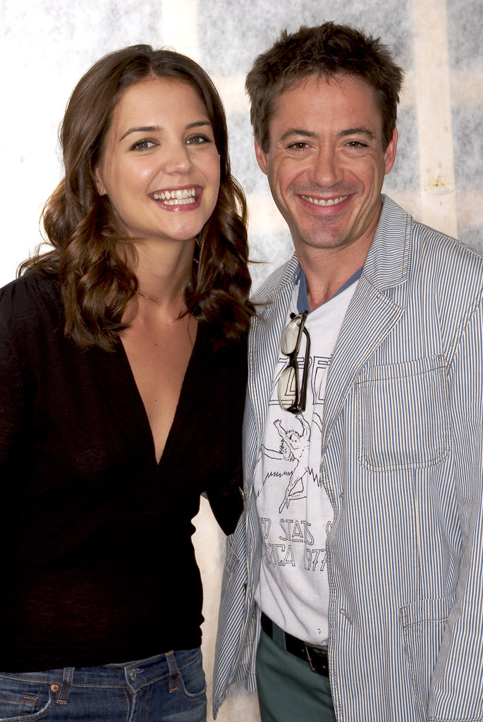 Katie Holmes attended the Toronto Film Festival with Robert Downey Jr. in September 2003.