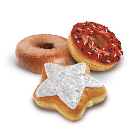 Dunkin' Donuts Sprinkle the Cheer and Holiday Star Donuts