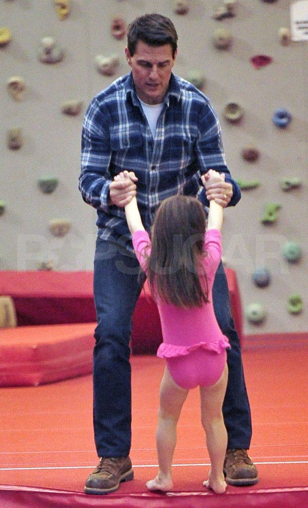 Tom Cruise and Suri Cruise did a little dance!   Tom