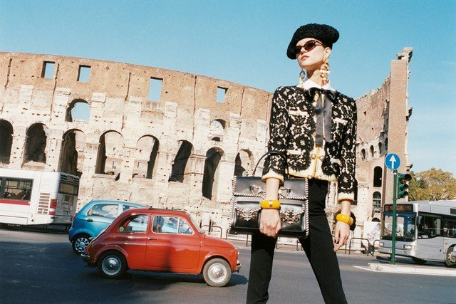 Moschino Cheap & Chic takes to the streets of Rome for its Spring '12 ad. Source: Fashion Gone Rogue