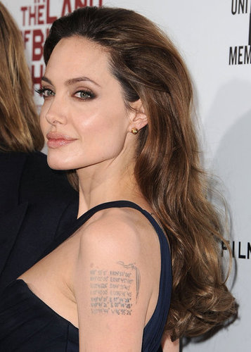 20. Jolie's Tattoo Controversy