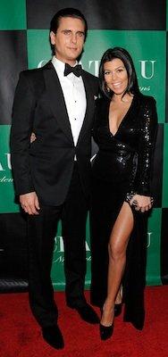 Kourtney Kardashian in Black Diane von Furstenberg Dress