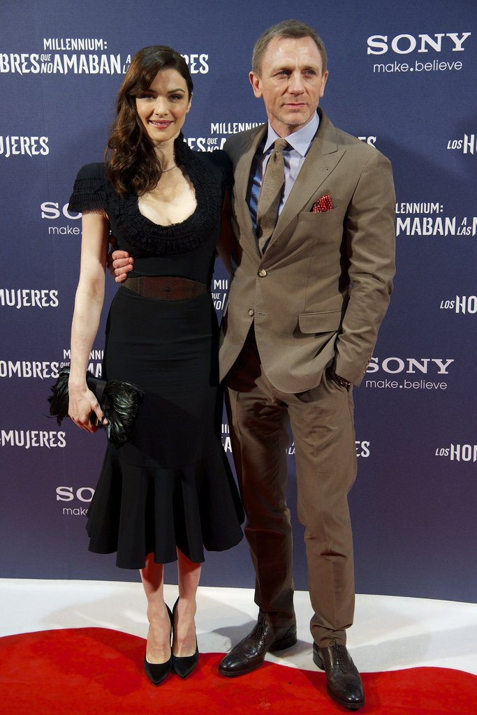 Rachel Weisz and Daniel Craig were happy to be in one another's company in Madrid.