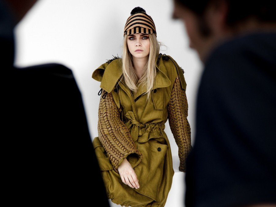 Behind the Scenes with Cara & Eddie for Burberry Spring '12