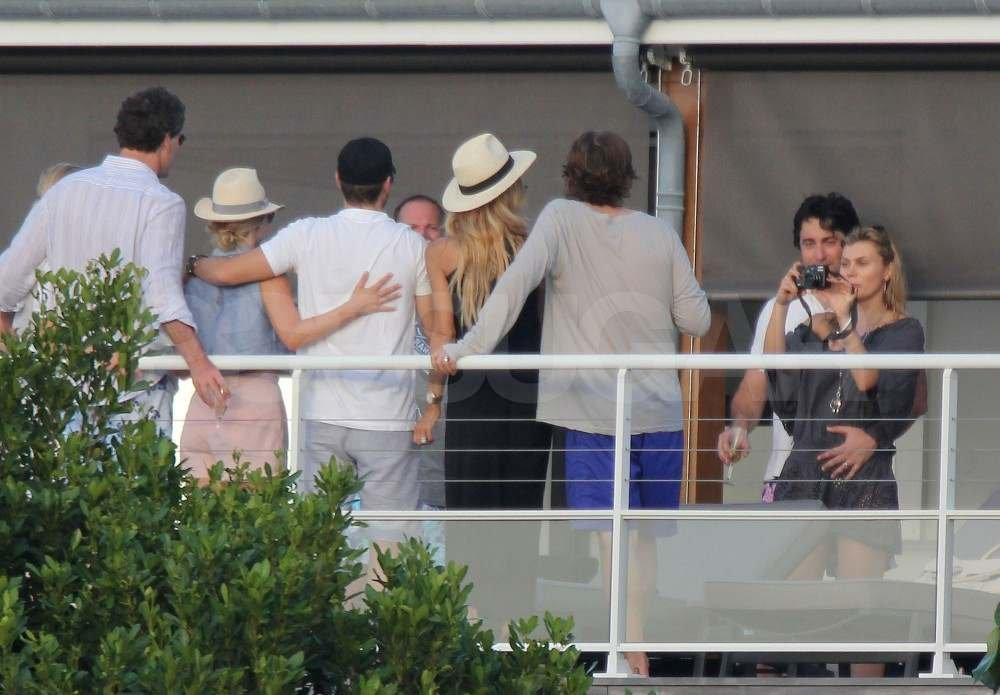Rachel Zoe and Rodger Berman with Ryan Seacrest and Julianne Hough in St. Barts.